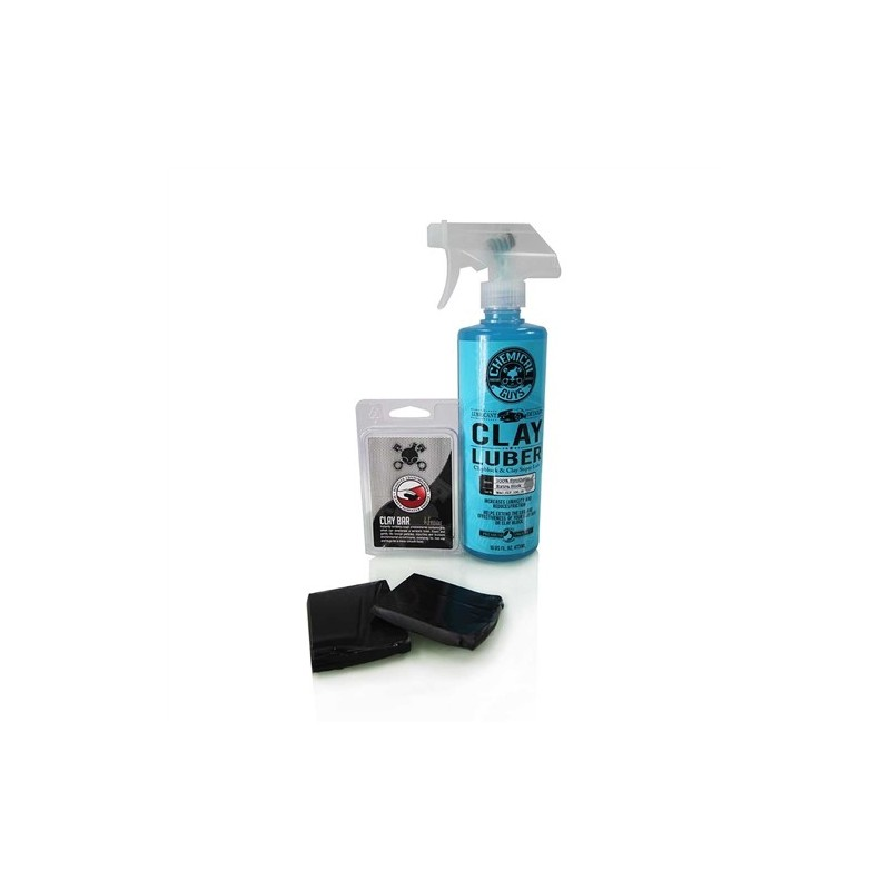 Chemical Guys - Clay Bar Black & Luber Kit (Heavy Duty)
