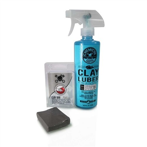 Chemical Guys - Clay Bar Gray & Luber Kit (Medium Duty)