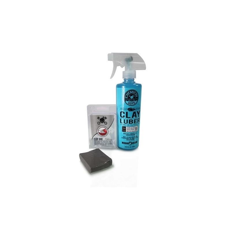 Chemical Guys - Clay Bar Gray & Luber Kit (Medium Duty)