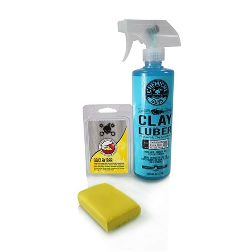 Chemical Guys - Clay Bar Yellow & Luber Kit (Light/Medium Duty)