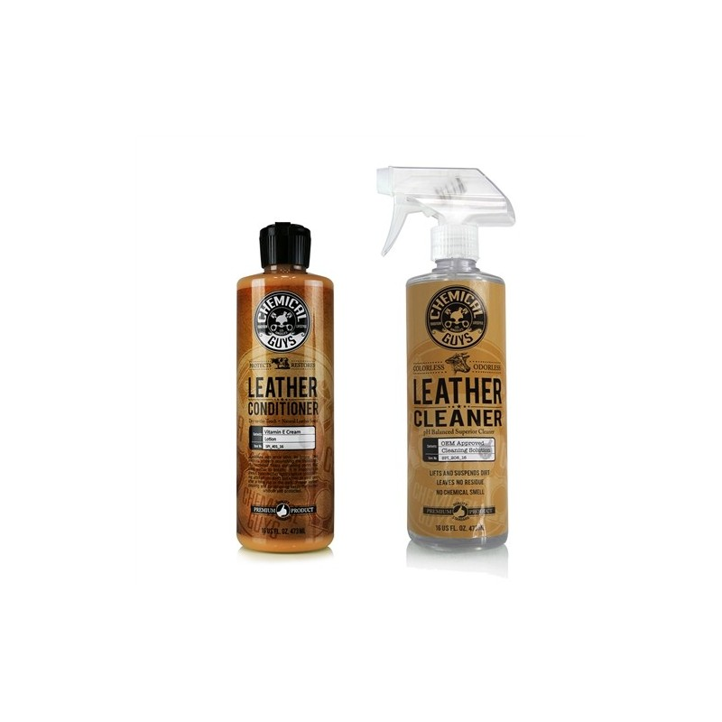 Chemical Guys - Pure Leather Cleaner + Pure Leather Conditioner