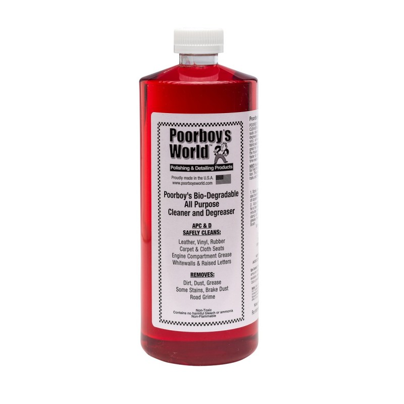 Poorboys World - Bio-Degradable All Purpose Cleaner & Degreaser (APC) - 946ml