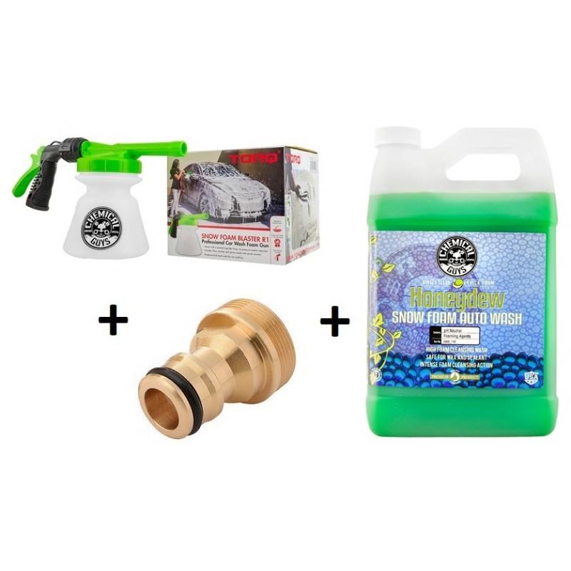 Chemical Guys - Honeydew Snow Foam Gallon & Torq R1 Foam Blaster Schuimpistool incl. adapter