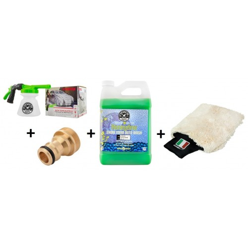 Chemical Guys - Honeydew Snow Foam Gallon, Thick Mitt & Torq R1 Foam Blaster Schuimpistool incl. adapter