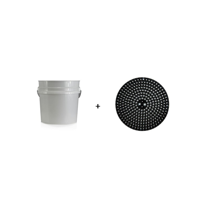 Chemical Guys - 19L Detailing Emmer + Cyclone Dirt Trap Black