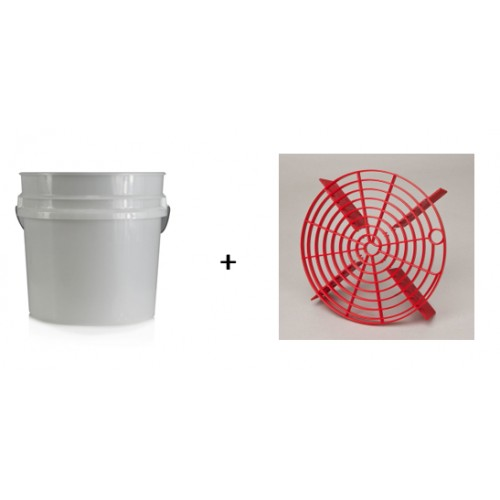 Chemical Guys - 19L Detailing Emmer + ScratchShield Bucket Filter Red