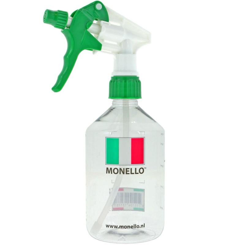 Monello - Lege fles met maatverdeling en sprayer - 500ml