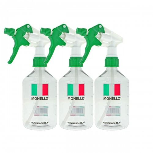 Monello - Lege fles met verdeling en sprayer 500ml - 3-pack