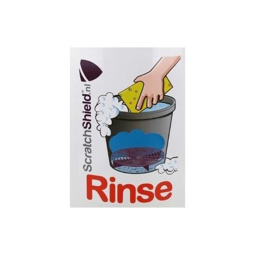 Scratchshield - Rinse Sticker